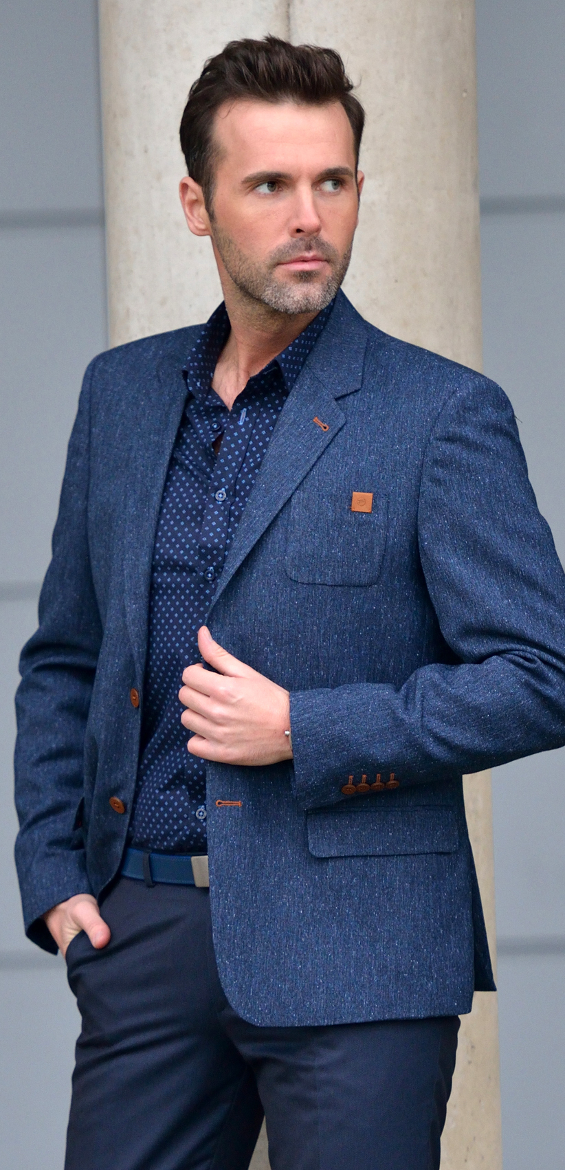 TWEED NAVY BLUE